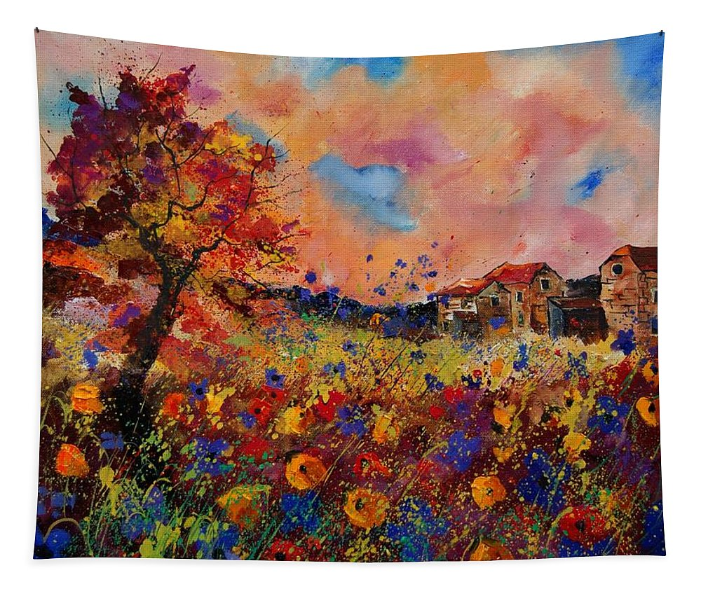 Poppies Tapestry featuring the painting Autumn Colors by Pol Ledent