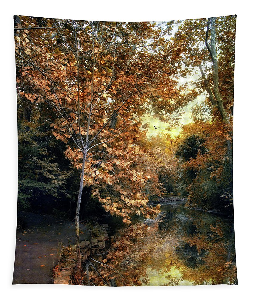 Nature Tapestry featuring the photograph Autumn Enchantment by Jessica Jenney