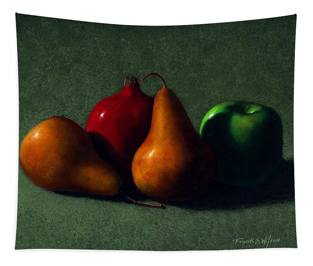 Still Life Tapestry featuring the painting Autumn Fruit by Frank Wilson