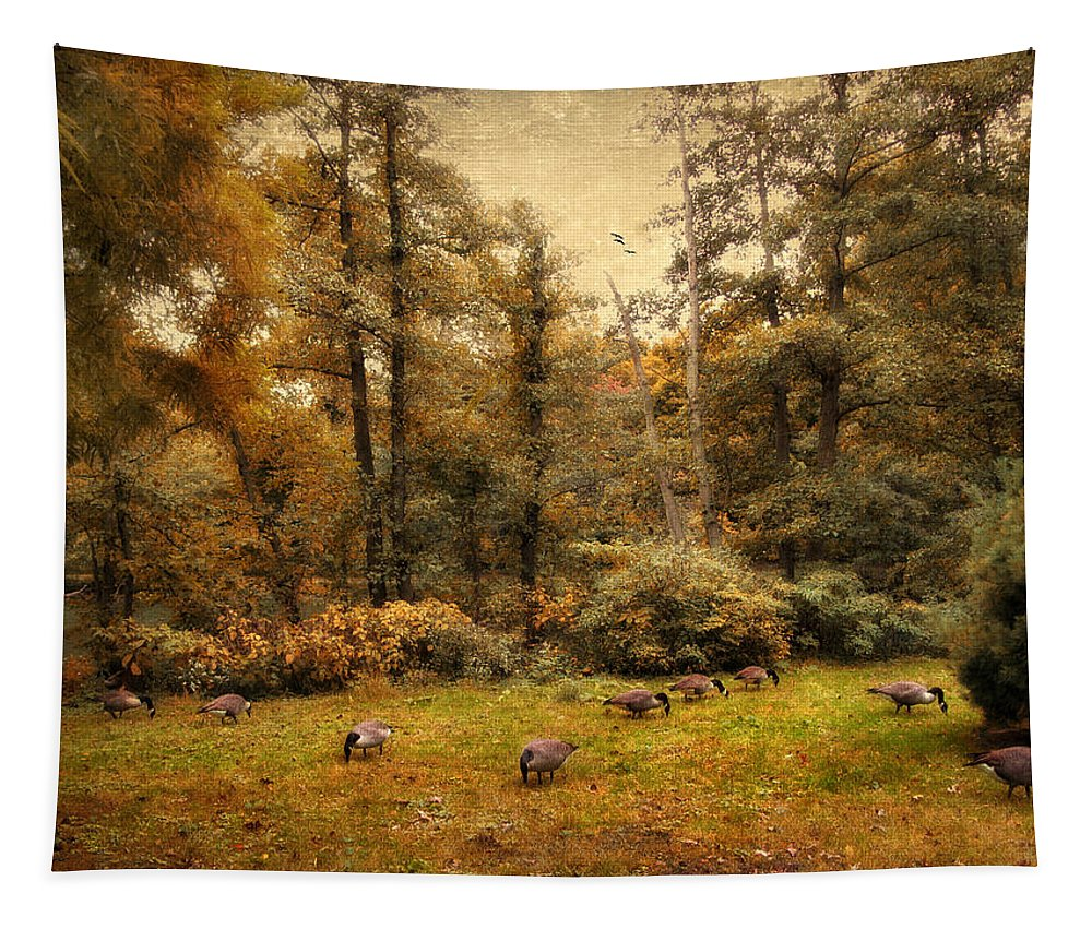 Autumn Tapestry featuring the photograph Autumn Grazing by Jessica Jenney