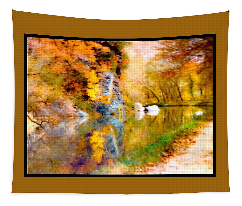 Park Tapestry featuring the photograph Autumn In The Park by Debra Lynch