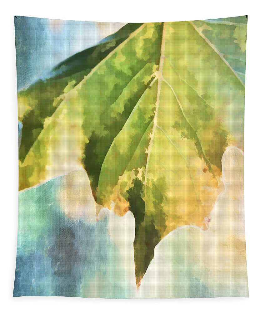 Leaf Tapestry featuring the digital art Autumn Leaf Light by Terry Davis