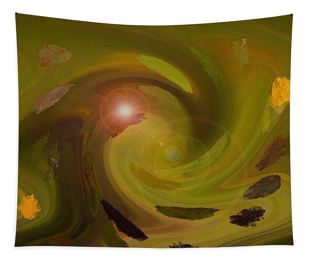 Digital Painting Abstract Tapestry featuring the digital art Autumn Light by Linda Sannuti