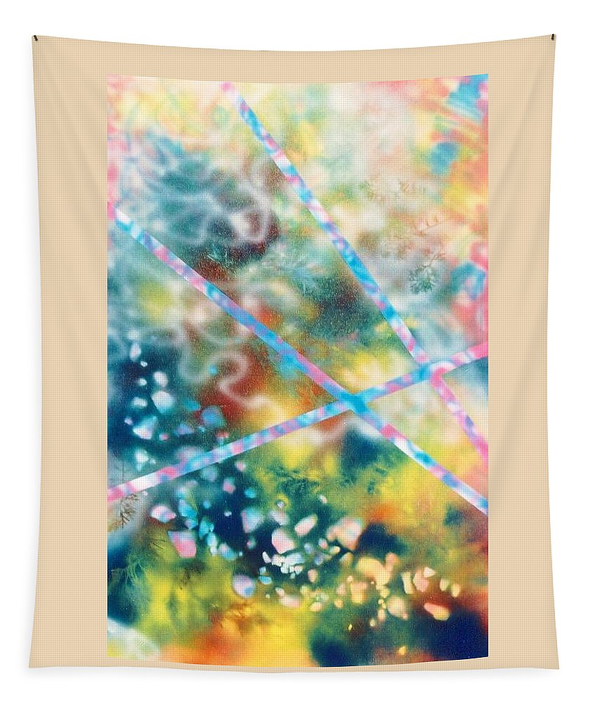 Abstract Tapestry featuring the painting Autumn by Micah Guenther
