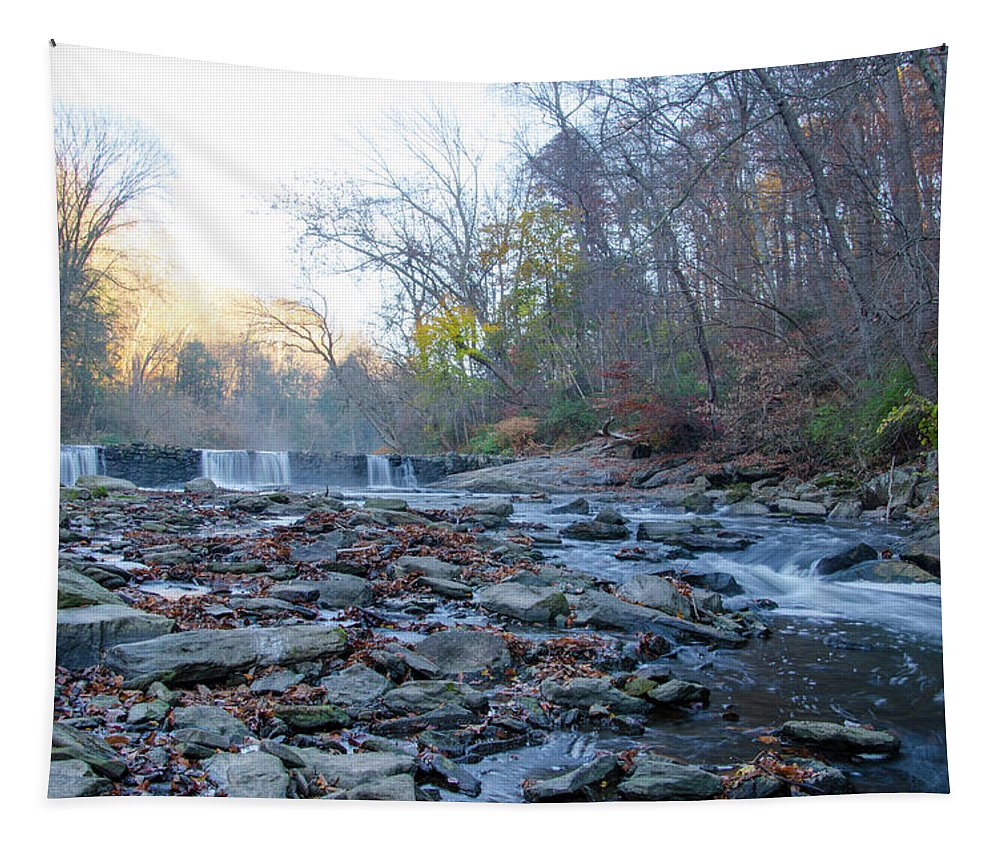 Autumn Tapestry featuring the photograph Autumn Morning Along The Wissahickon Creek by Bill Cannon