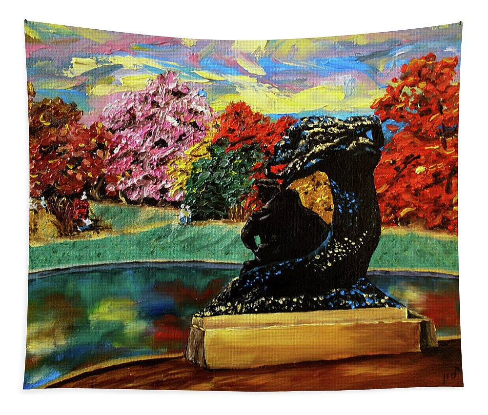 Artwork By Maria Woithofer Tapestry featuring the painting Autumn Music by Maria Woithofer
