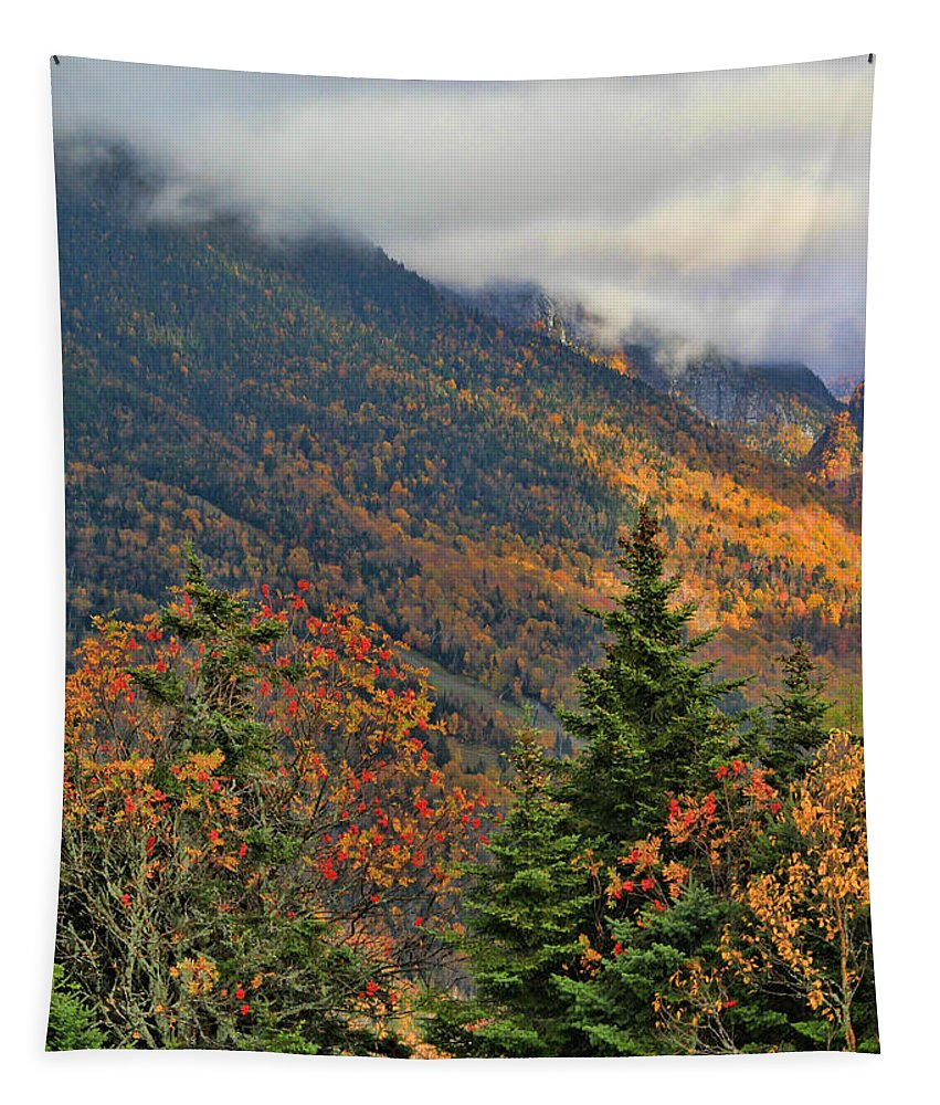 Mount Mansfield In Autumn Tapestry featuring the photograph Autumn On Mount Mansfield Vermont by Dan Sproul