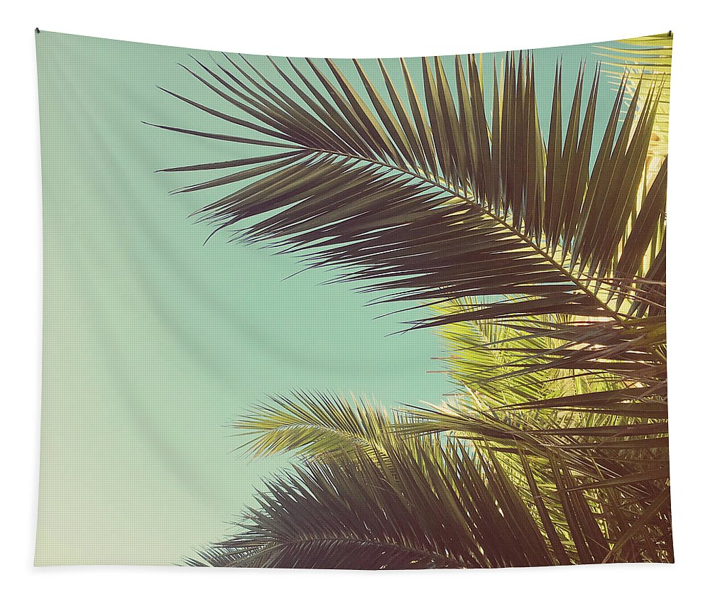 Palm Trees Tapestry featuring the photograph Autumn Palms by Cassia Beck