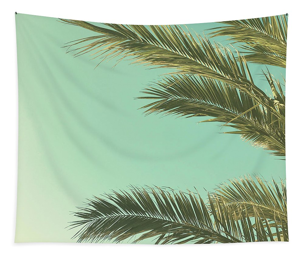 Palm Trees Tapestry featuring the photograph Autumn Palms II by Cassia Beck