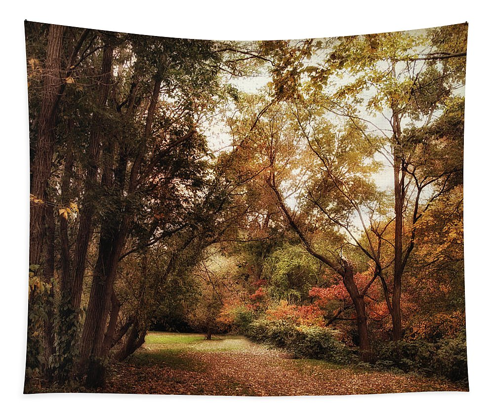 Nature Tapestry featuring the photograph Autumn Passage II by Jessica Jenney