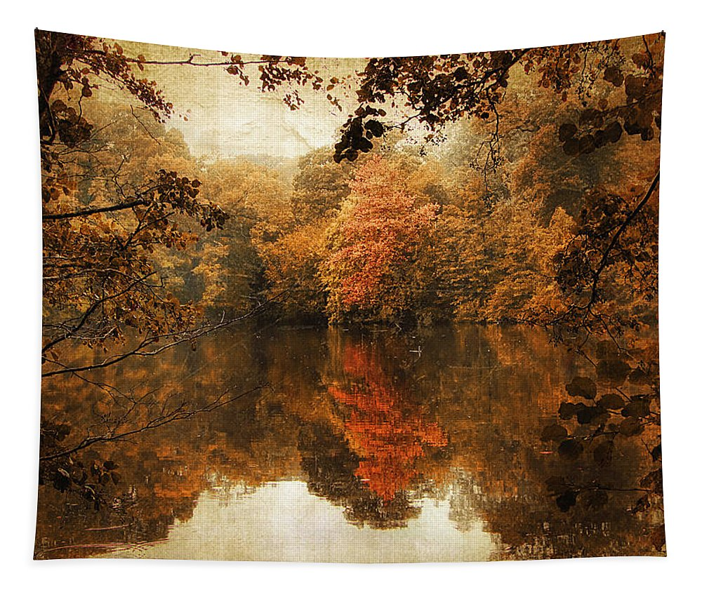 Autumn Tapestry featuring the photograph Autumn Reflected by Jessica Jenney