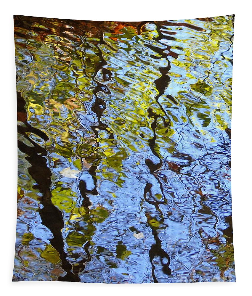 Featured Tapestry featuring the photograph Autumn Reflections by Susan Lafleur