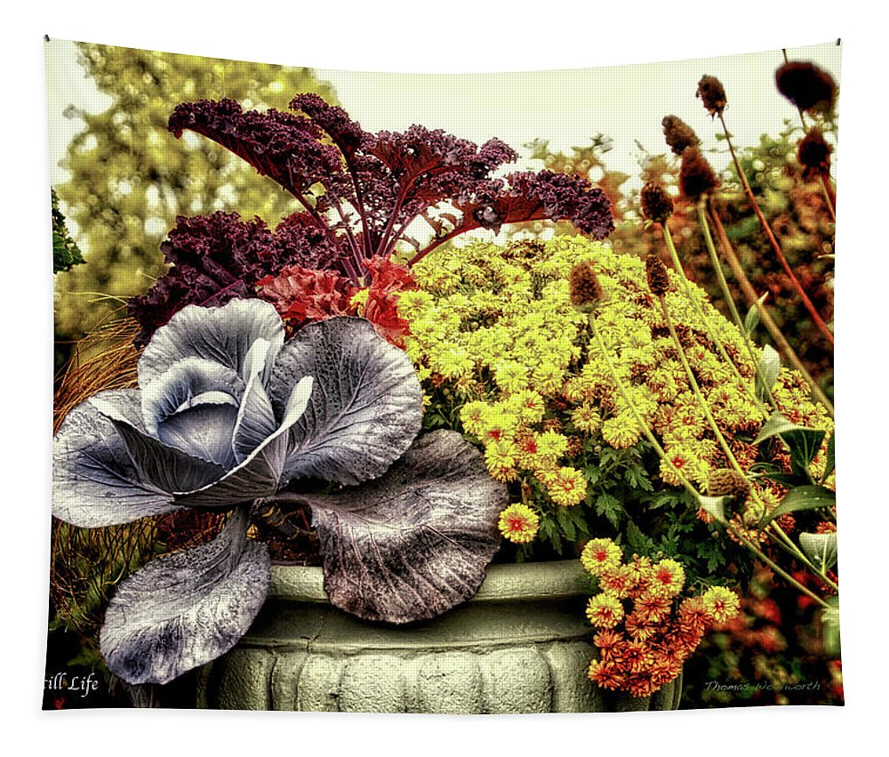 Vase Tapestry featuring the photograph Autumn Still Life by Thomas Woolworth