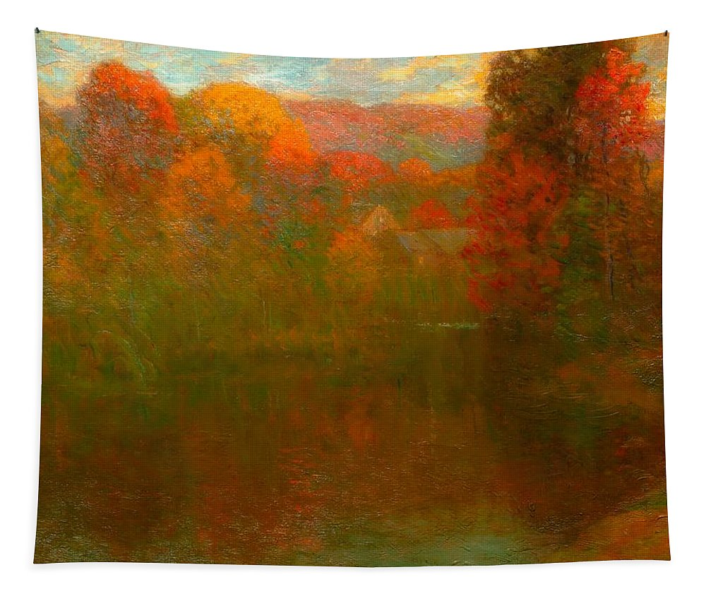 Painting Tapestry featuring the painting Autumn Symphony by John Enneking