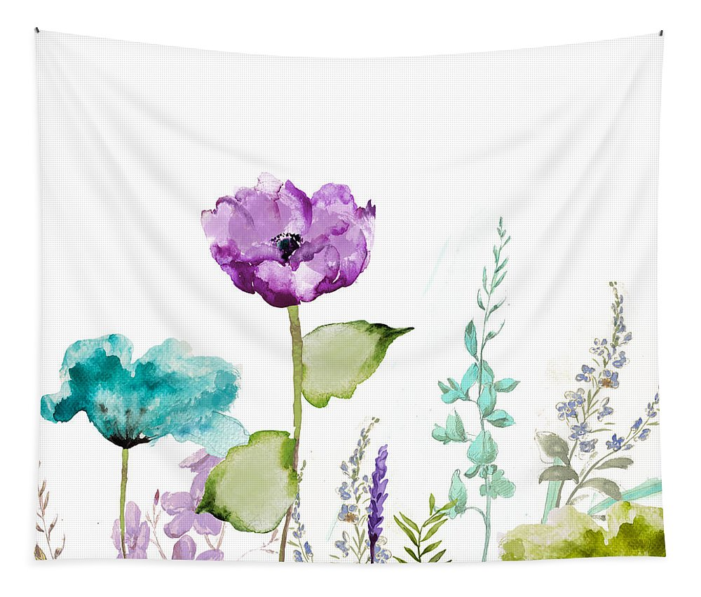 Garden Tapestry featuring the painting Avril by Mindy Sommers
