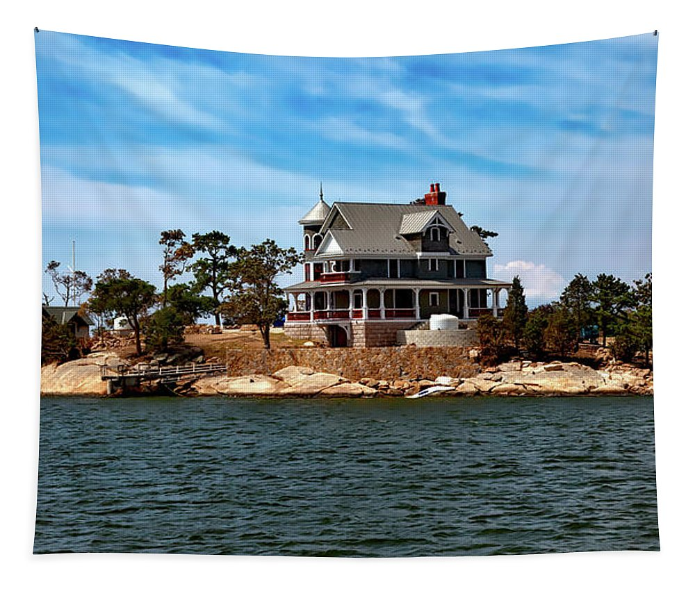 House Tapestry featuring the photograph Away From It All by Mountain Dreams