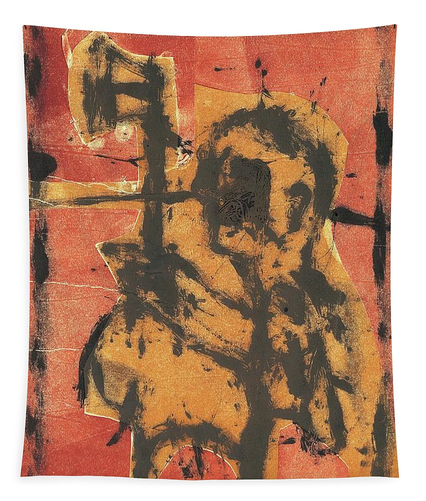 Axeman Tapestry featuring the relief Axeman 2 by Artist Dot