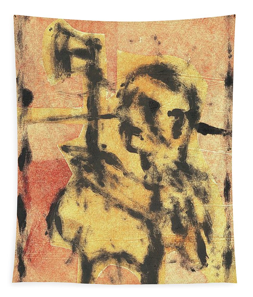 Axeman Tapestry featuring the relief Axeman 9 by Artist Dot