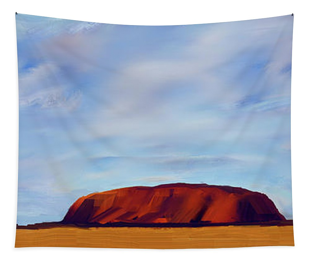 Ayers Rock Tapestry featuring the digital art Ayers Rock V2 by Bruce