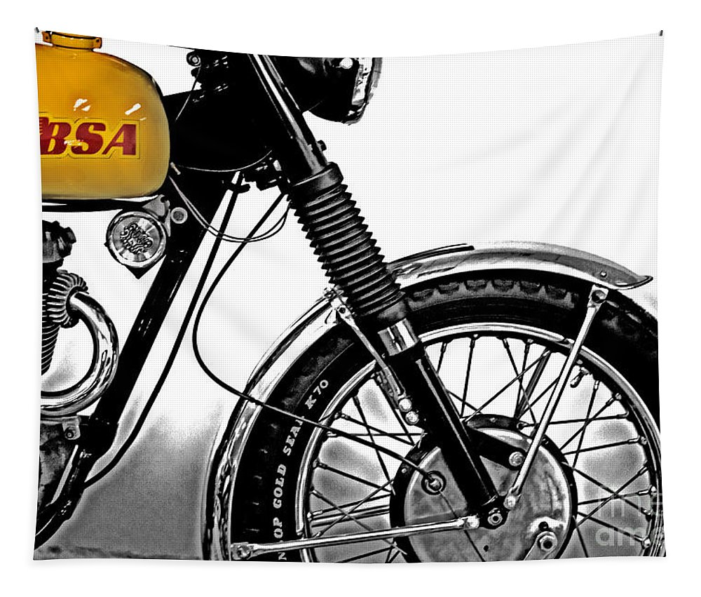 Bsa Victor Tapestry featuring the photograph B S A Victor by Tom Gari Gallery-Three-Photography