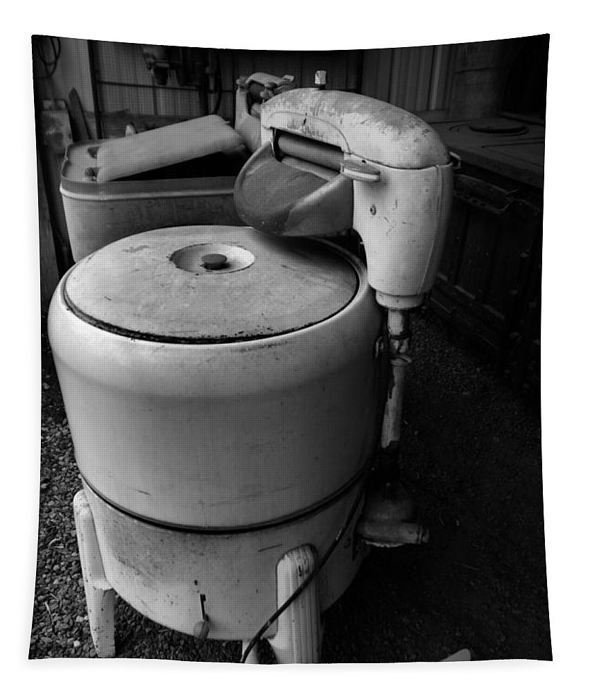 Wash Machine Tapestry featuring the photograph Back In The Day When Washing Clothes Was Fun by Jeff Swan