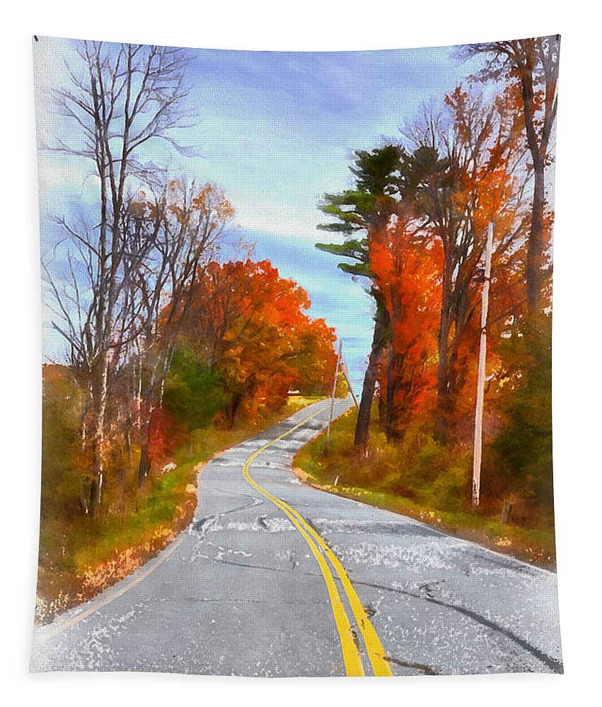 Vermont Tapestry featuring the painting Backroads Vermont by Edward Fielding
