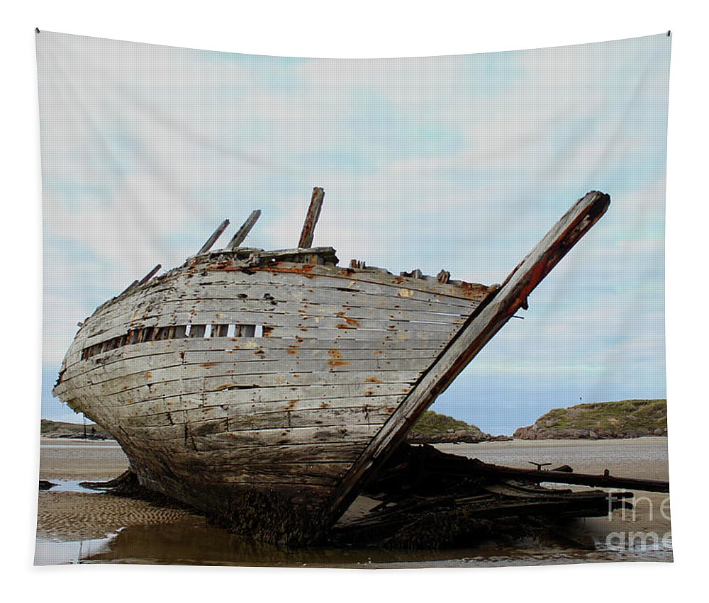 Boat Tapestry featuring the photograph Bad Eddie's Boat Donegal Ireland by Eddie Barron
