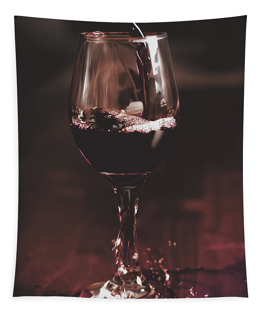 Misfortune Tapestry featuring the photograph Bad Table Service With A Pour Aim by Jorgo Photography - Wall Art Gallery