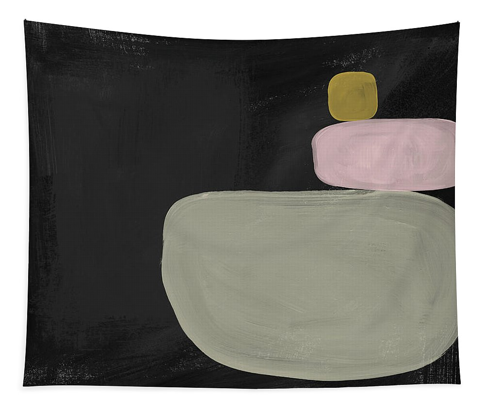 Mid Century Modern Tapestry featuring the painting Balanced Modern- Art by Linda Woods by Linda Woods
