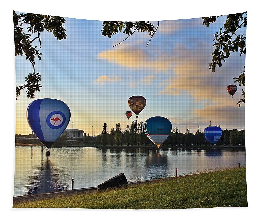 Hot Tapestry featuring the photograph Balloon Ballet by Anthony Croke