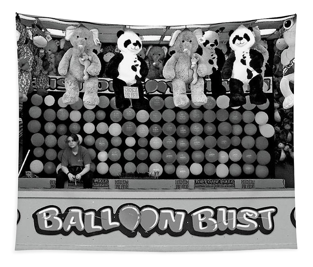 Balloon Tapestry featuring the photograph Balloon Bust by Steve Karol