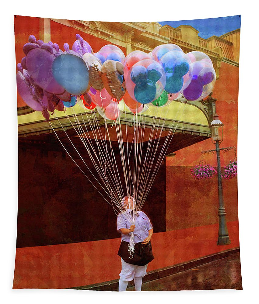 Balloons Tapestry featuring the photograph Balloons by Nikolyn McDonald