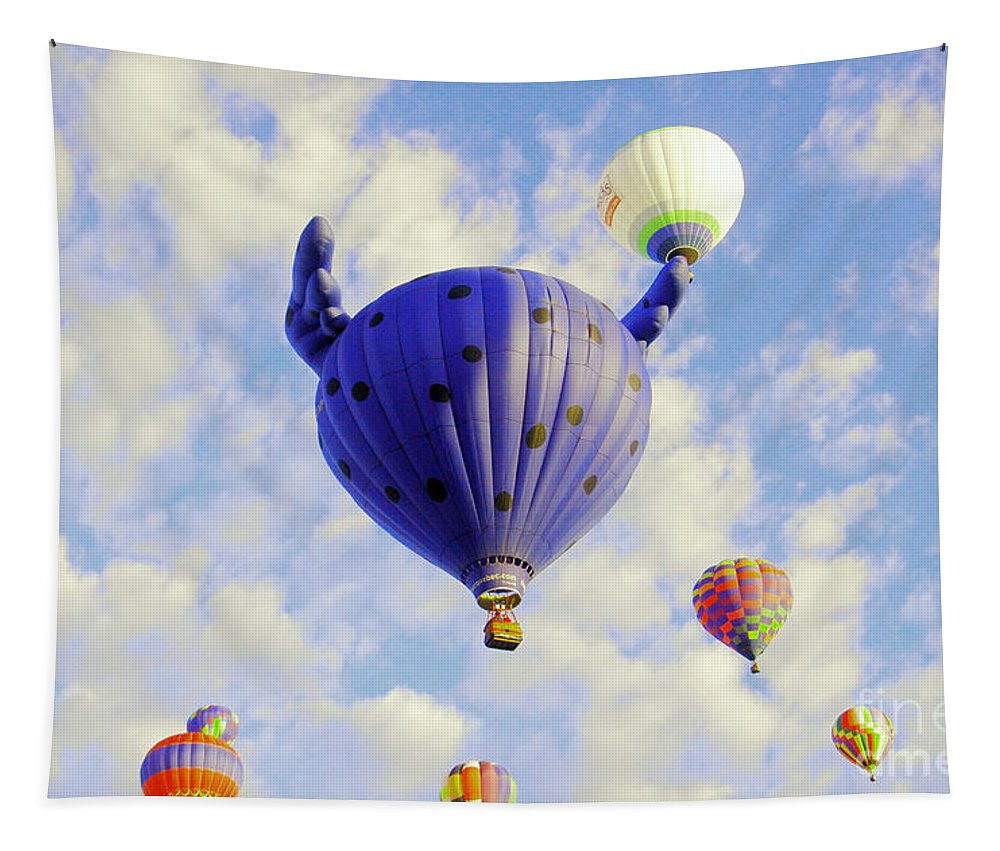 Balloons Tapestry featuring the photograph Balloons Overhead by Jeff Swan