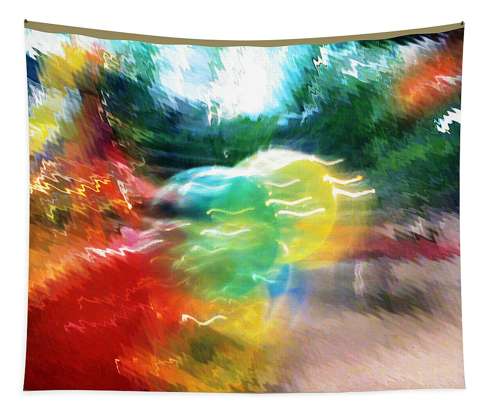 Baloons Tapestry featuring the painting Baloons n Lights by Anil Nene