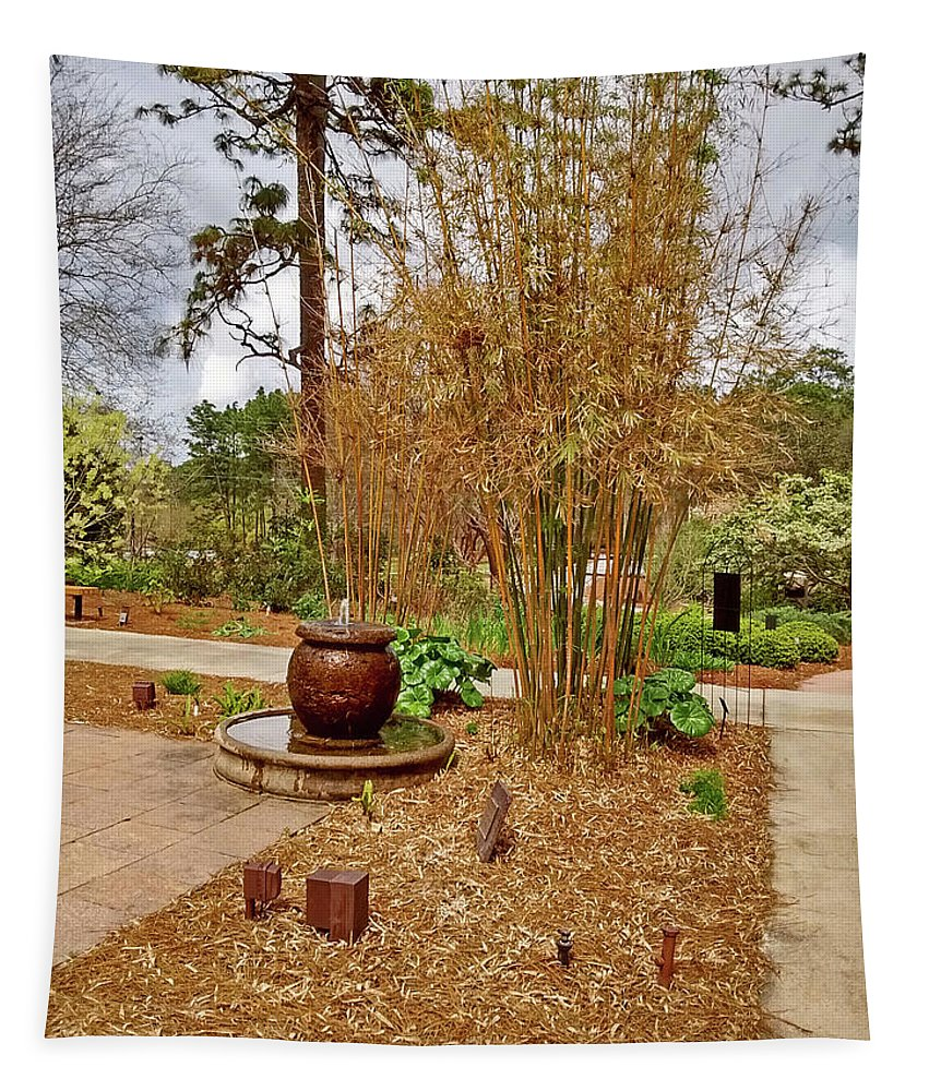 Photography Tapestry featuring the photograph Bamboo At The Botanical Gardens by Marian Bell