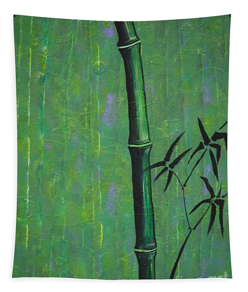 Bamboo Tapestry featuring the painting Bamboo by Jacqueline Athmann