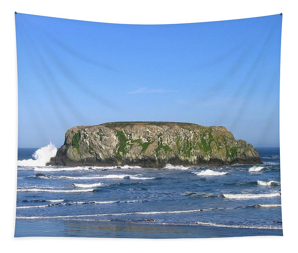 Table Rock Tapestry featuring the photograph Bandon 12 by Will Borden