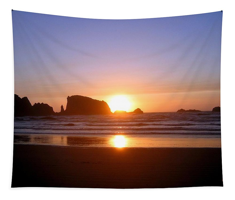 Bandon Tapestry featuring the photograph Bandon 7 by Will Borden
