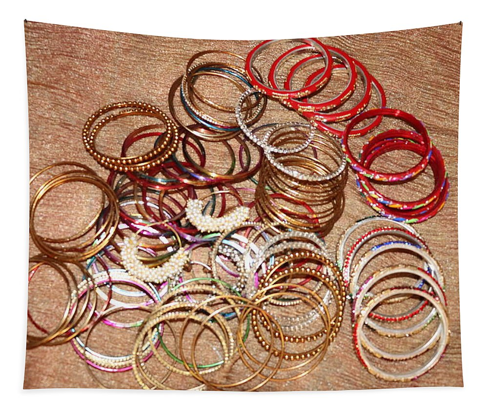 Bangles Tapestry featuring the photograph Bangles by Nilu Mishra