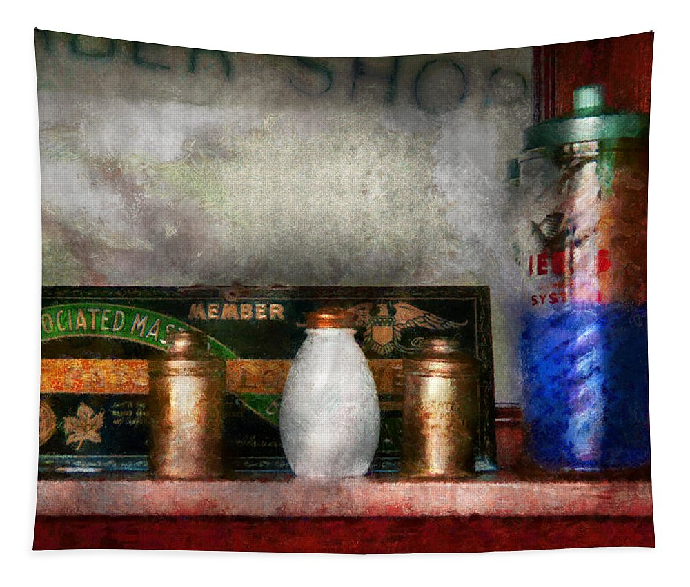 Hdr Tapestry featuring the photograph Barber - Things You Stare At by Mike Savad