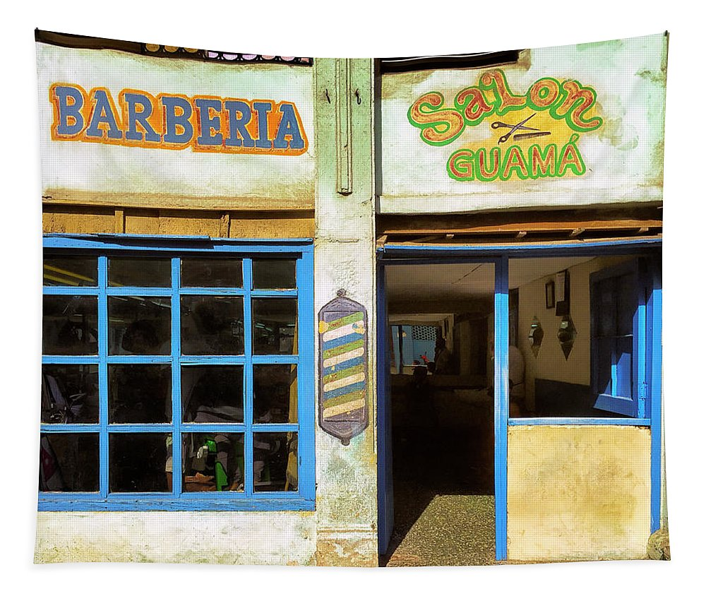 Barberia Tapestry featuring the photograph Barber Shop by Dominic Piperata