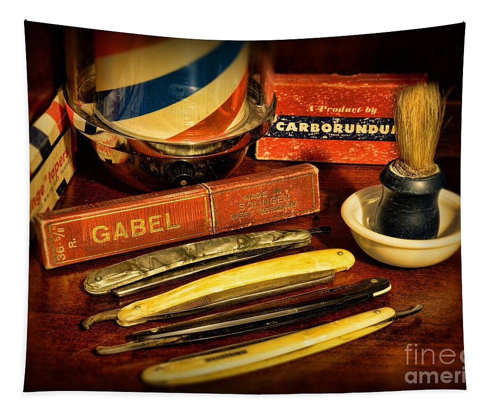 Barber - Vintage Barber Tapestry featuring the photograph Barber - Vintage Barber by Paul Ward