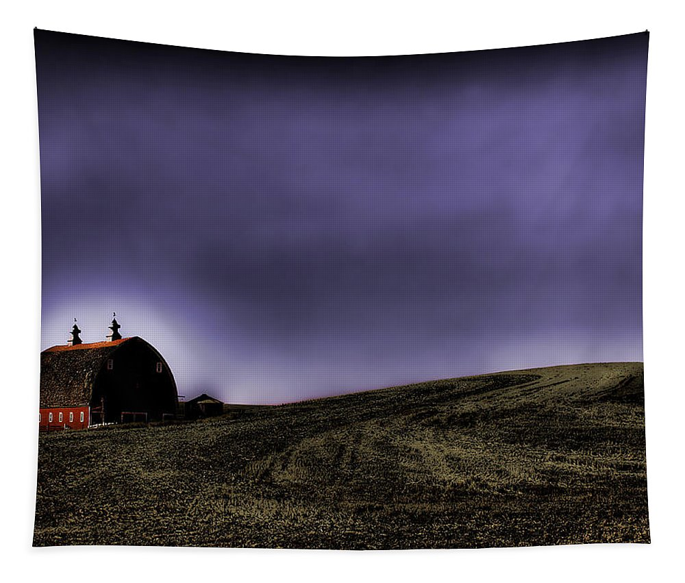 Hdr Tapestry featuring the photograph Barn At Dusk by David Patterson