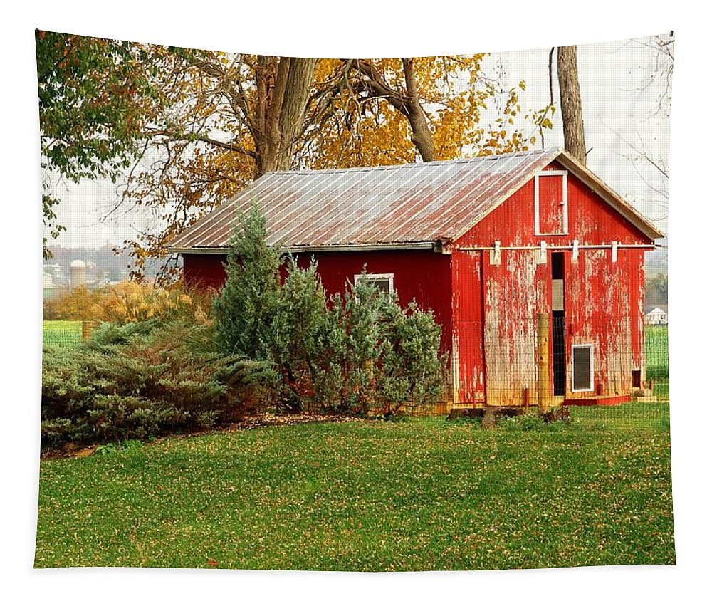 Barn Tapestry featuring the photograph Barn by Robert McCulloch