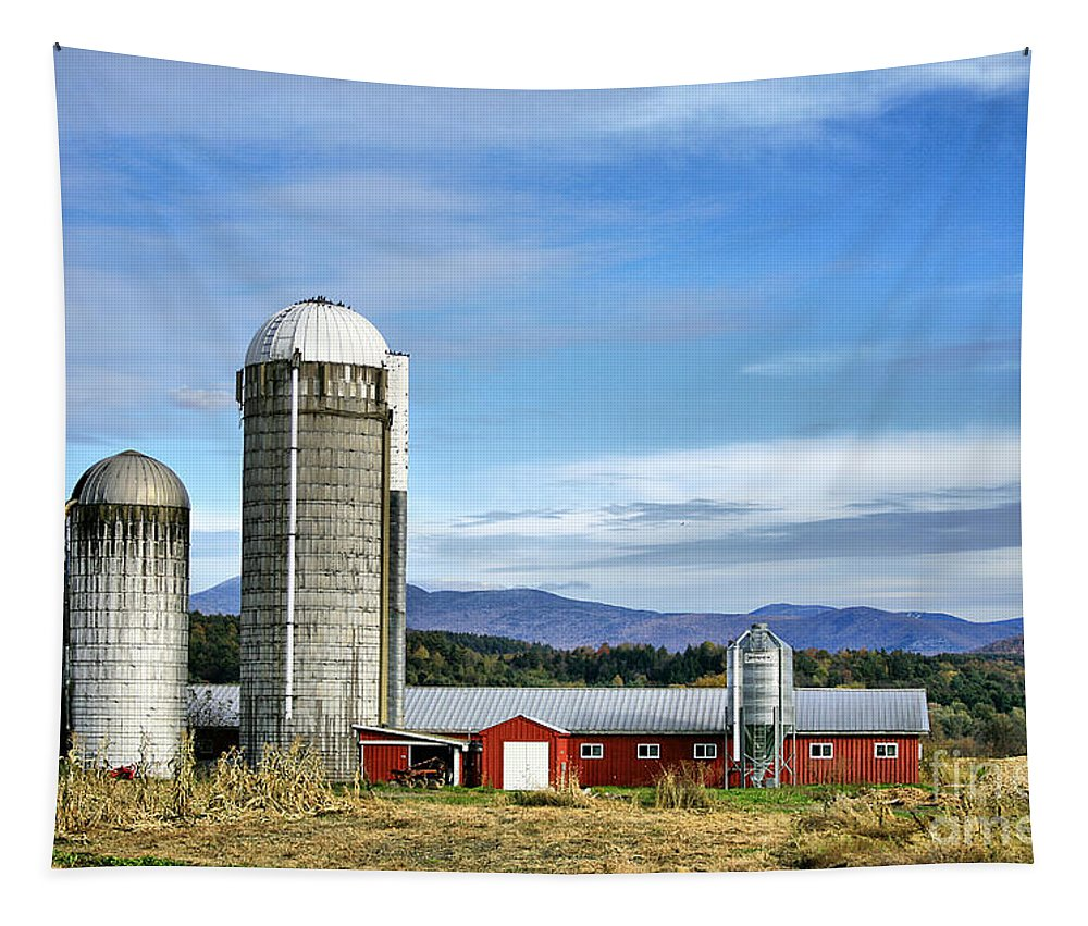 Rural Tapestry featuring the Barn With A View by Deborah Benoit