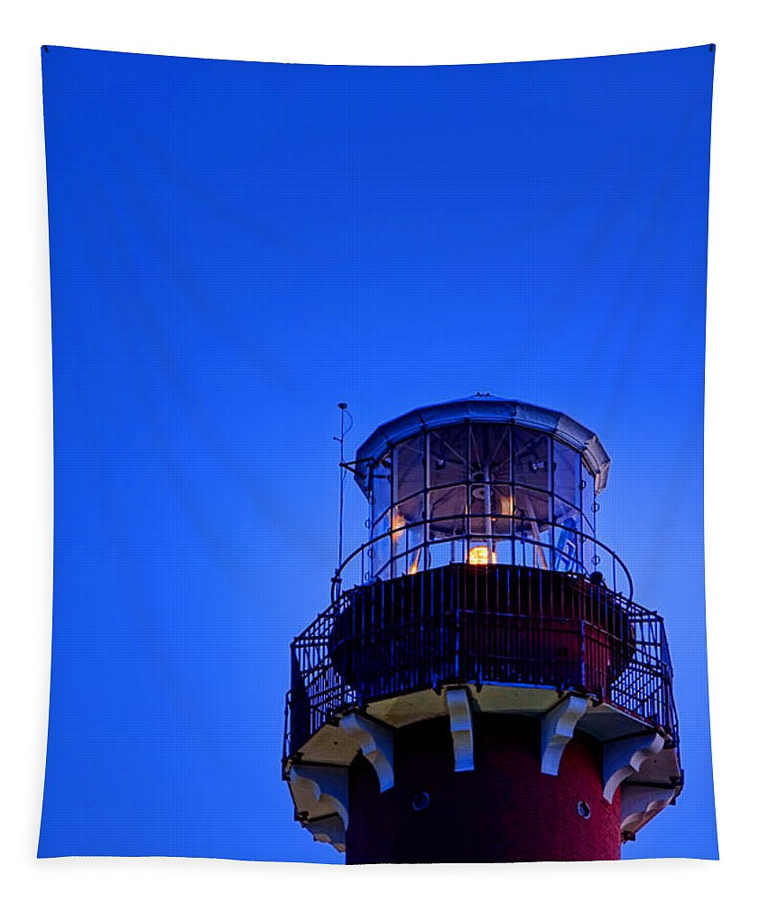Moon Tapestry featuring the photograph Barnegat Moonlight by Olivier Le Queinec