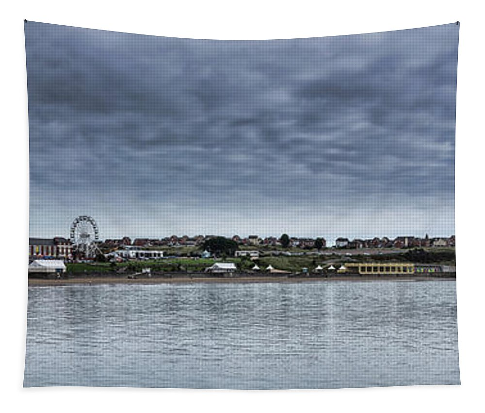 Barry Island Tapestry featuring the photograph Barry Island Panorama by Steve Purnell