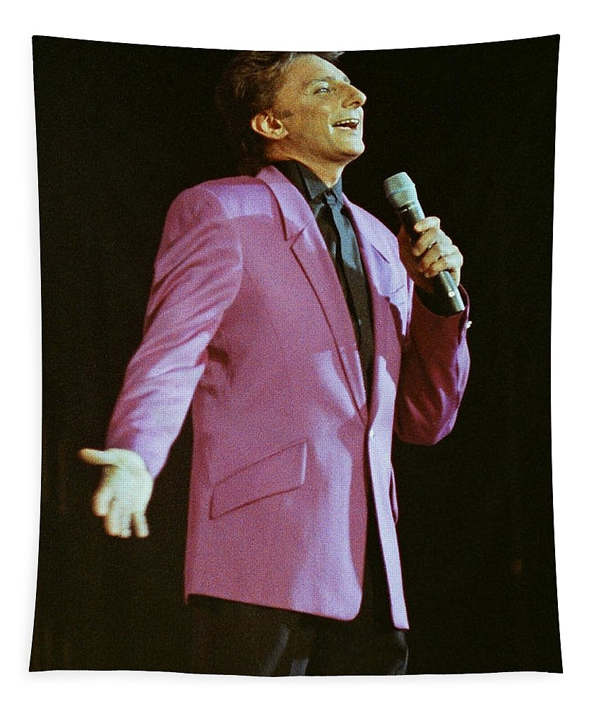 Barry Manilow Tapestry featuring the photograph Barry Manilow-0774 by Gary Gingrich Galleries