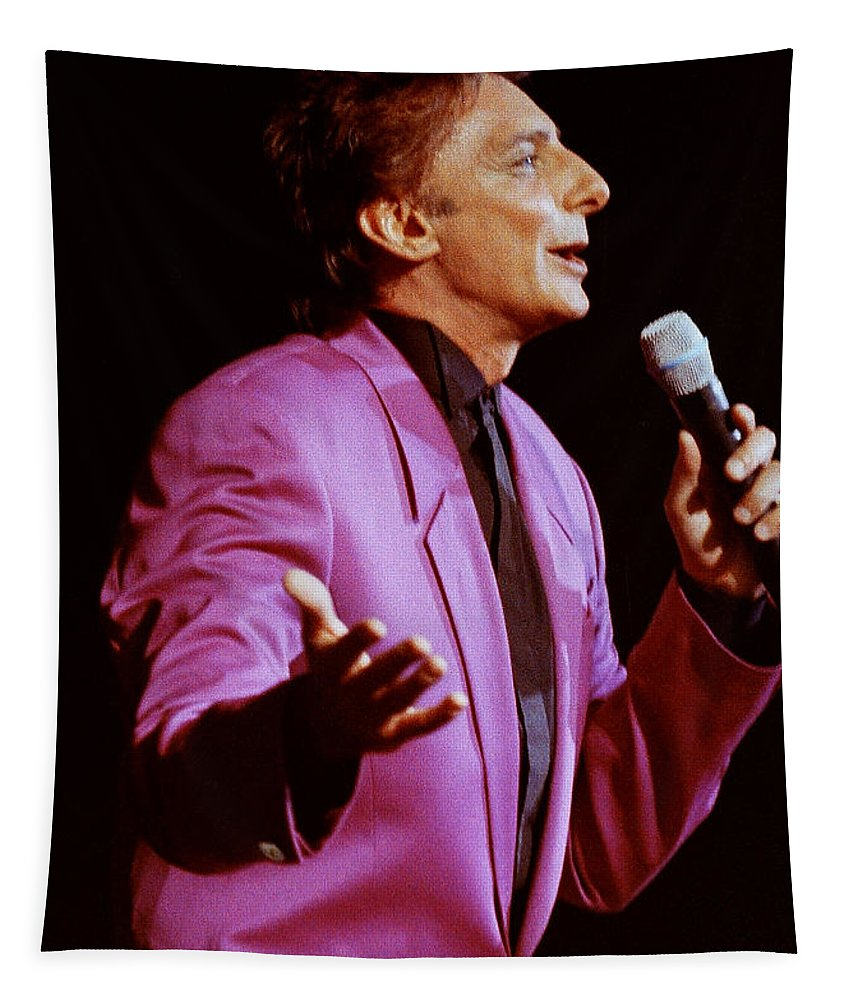 Barry Manilow Tapestry featuring the photograph Barry Manilow-0784 by Gary Gingrich Galleries