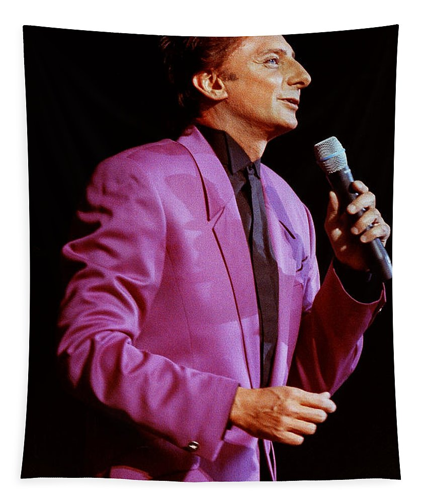 Barry Manilow Tapestry featuring the photograph Barry Manilow-0785 by Gary Gingrich Galleries